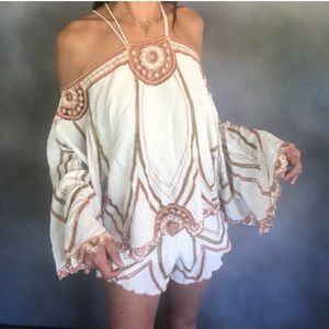Free people embroidered set